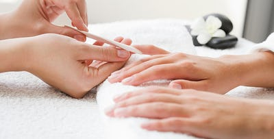 £20 for a Shellac Manicure or Pedicure + Glass of Prosecco for One