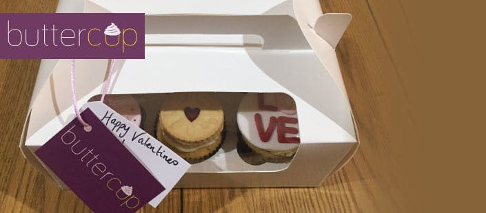 £10 for a Box of 6 Valentine's Cupcakes