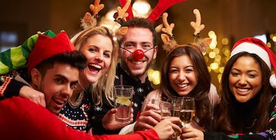£17 for a Festive Party Night with Dinner & Wine on Friday 23rd December