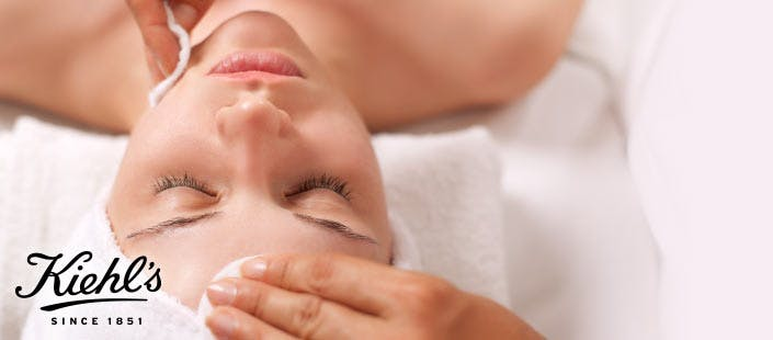£10 for a Kiehl's Hot Cloth Facial