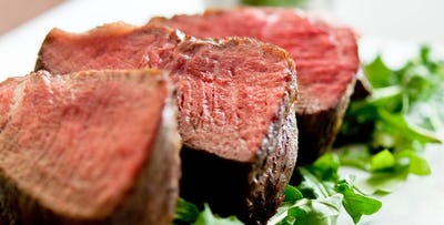 £45 for Chateaubriand Steak + Glass of Prosecco for 2
