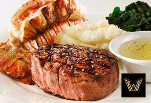 £19.95 for Surf & Turf, Show Ticket + Fizz for 1