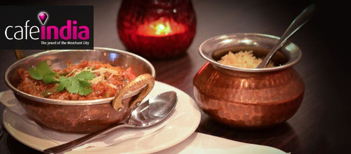 £23.95 for a 2 Course Indian Meal + Wine for 2