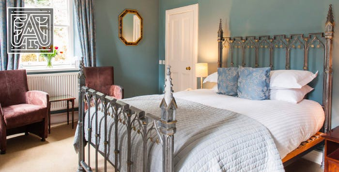 1 or 2 Night Stay in Garden View Room with Dinner + Bottle of Wine for 2, from £95