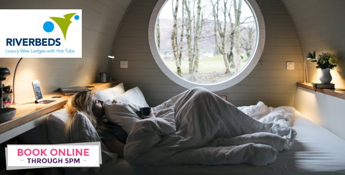 1 or 2 Night Stay for 2 in Luxury Glamping Lodge with Breakfast, Hot Tub + Prosecco; from £189