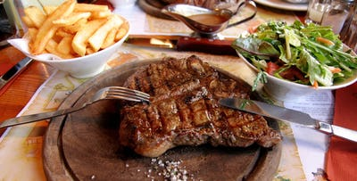 £52.20 £26.00 Steak + Wine for 2 Ad Lib, Glasgow