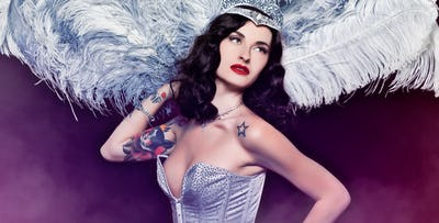 £29 for Burlesque & Magic Show with Dinner + Fizz for 1 on 6th October