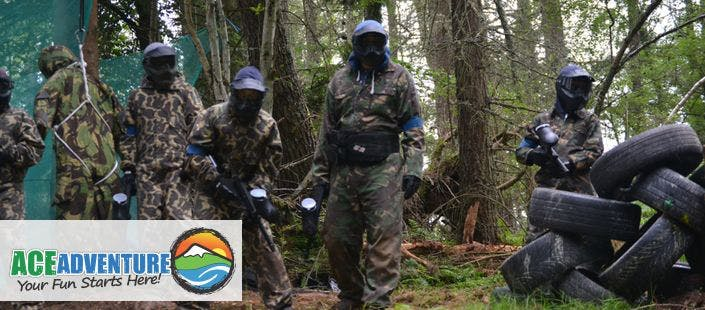 £12 for a Woodland Paintball Experience