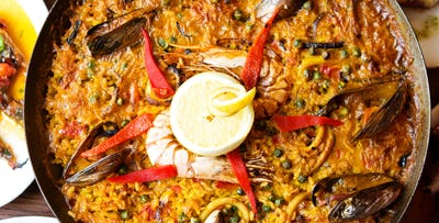 £19 for Paella + Wine for 2