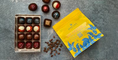 Box of Handmade Chocolate Bonbons + Bag of Specialty Coffee, from £18