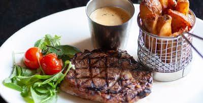 £29 for 8oz Sirloin Steak with Sauce & Triple Cooked Chips + Prosecco for 2
