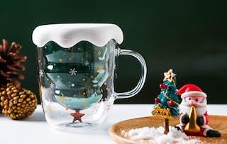 Glass Christmas Tree Mug