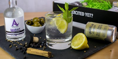 £20 for 3 Craft Gins + Mixer & Snack