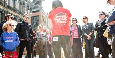£20 for a Guided Walking Tour of Edinburgh's Music Scene for 2. £60 for Private Tour for 4