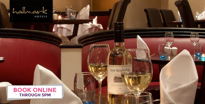 Overnight Stay with Bottle of Wine for 2 + Option of Dinner; from £49