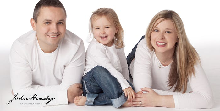 £19 for a Studio Family Portrait Session + Framed Portrait