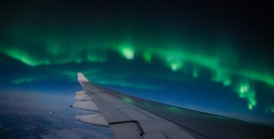 £230 per person for a Northern Lights Sightseeing Flight on 8th December 2018 from Edinburgh, 3rd February 2019 from Glasgow or 1st March 2019 from Manchester