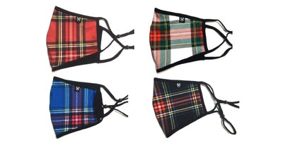 Adult or Kids Tartan Face Masks, from £5