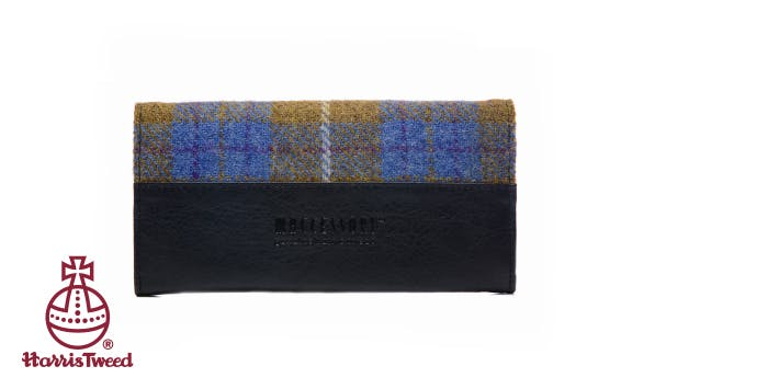 £18.95 for a Harris Tweed Envelope Purse in Purple Check or Autumn Brown