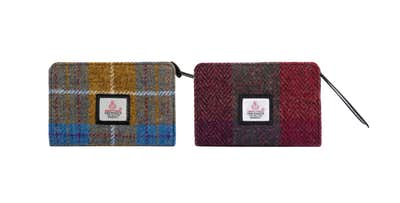 £18.95 for a Harris Tweed Zip Purse in Purple Check or Autumn Brown