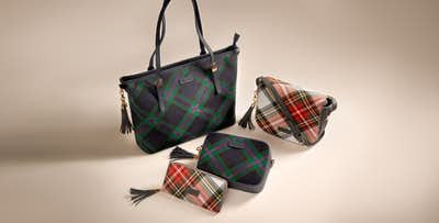 Choice of Tartan Bags & Purses; from £12