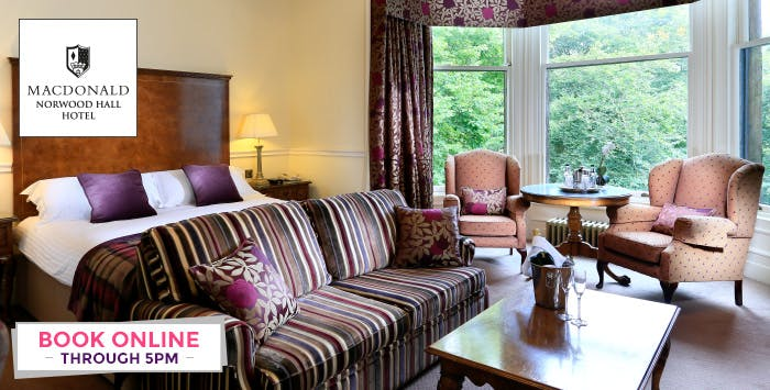 Overnight B&B Stay with Prosecco, Late Check-Out + Optional Room Upgrade, from £89