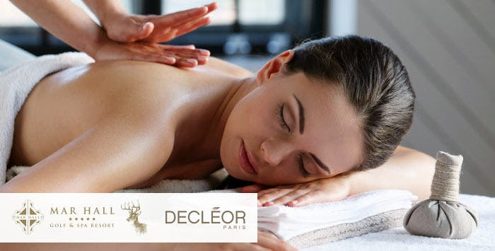 £59 for a Decleor Facial + Aroma Back Relief Treatment with Light Lunch, Prosecco, Mince Pie & Use of Leisure Facilites for 1