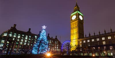 1 or 2 Nights in London + Christmas Lights By Night Open Top Bus Tour, from £79 per person