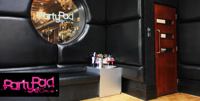 Party Pad is One Up's private karaoke room overlooking Royal Exchange Square. Featuring a state of the art k-player system and the newest tracks, the Party Pad can accommodate up to 15 guests.