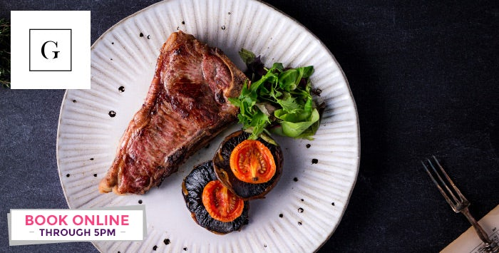 £39 for Sirloin or Ribeye Steak & Chips + Bottle of Wine for 2