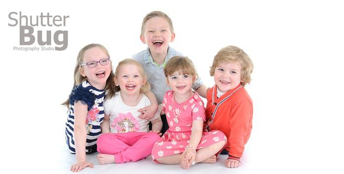 Child family photoshoot 9 prints at shutterbug photography studio