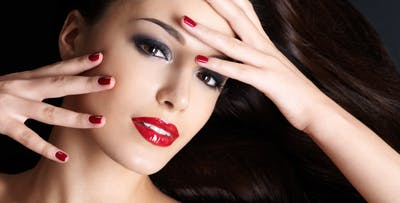 £33 for Full Face Make Up, Strip Lashes & Gel Nails