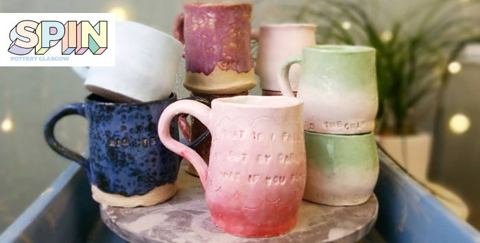 £20 for a Make Your Own Mug Session + Cupcake & Drink with Spin Pottery