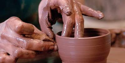 Introductory Pottery Wheel Experience for 1 or 2, from £35