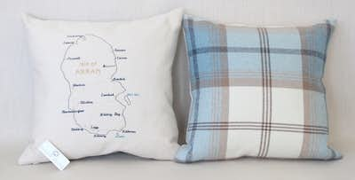 £49 for a Scottish Islands Embroidered Cushion