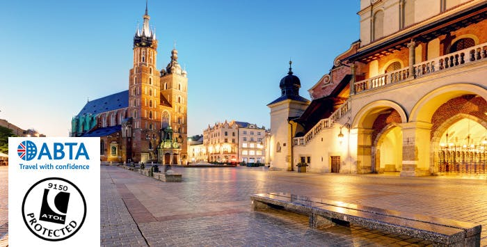 £230 for 3 Nights in Kraków with Return Flights - Deposit Required