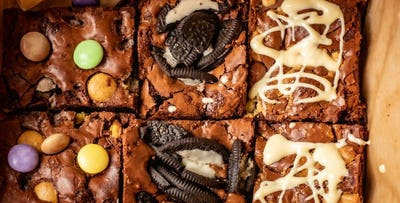 £12.50 for a Box of 6 Brownies with 3 Flavours including Delivery