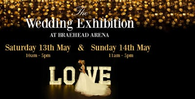 Entry to The Wedding Exhibition at Braehead Arena + Glass of Prosecco for 2 or 4 People on Saturday 13th or Sunday 14th May 2017, from £10