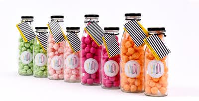 Braw Bottle of Sweets with Personalised Message, from £7