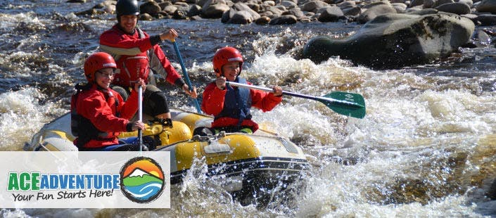 £59.50 for a Full Day White Water Rafting + Cliff Jumping