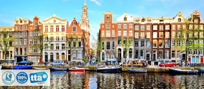 £330 for 3 Nights in Amsterdam with Return Flights - Low Deposit Required