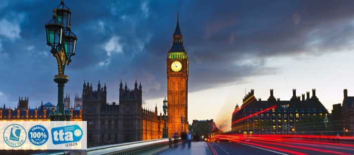 £220 for 2 Nights in London with Return Flights - Low Deposit Required