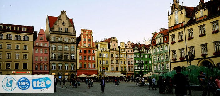 £225 for 3 Nights in Wroclaw with Return Flights - Low Deposit Required