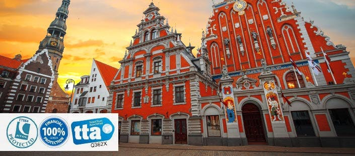 £299 for 3 Nights in Riga with Return Flights - Low Deposit Required