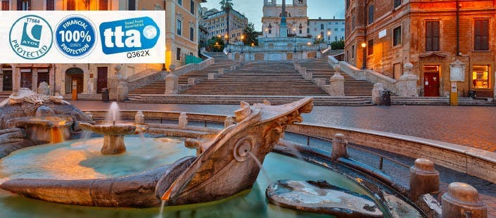 £270 for 3 Nights in Rome with Return Flights - Low Deposit Required