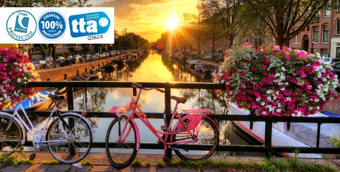 £299 for 4 Nights in Amsterdam with Return Flights - Low Deposit Required