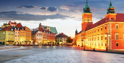 £210 for 3 Nights in Warsaw with Return Flights - Low Deposit Required