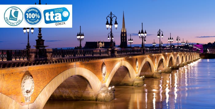 £280 for 3 Nights in Bordeaux with Return Flights - Low Deposit Required