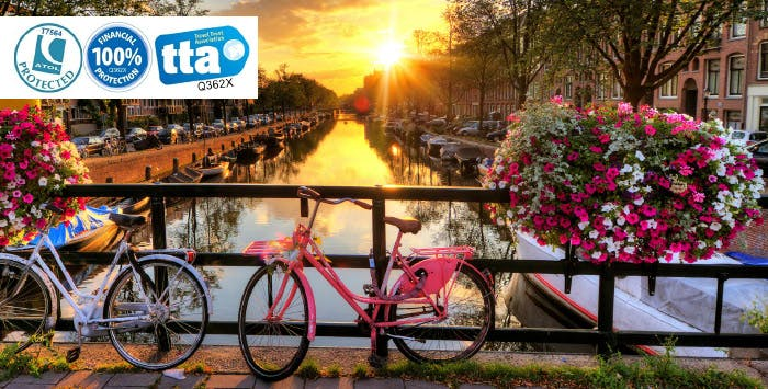 £290 for 3 Nights in Amsterdam with Return Flights - Low Deposit Required
