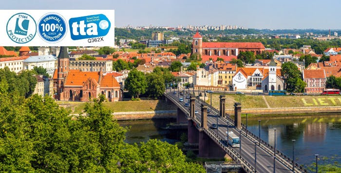 £235 for 3 Nights in Kaunas with Return Flights - Low Deposit Required